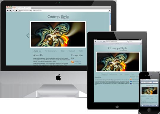 Responsive Web Design Example 1 Web Hosting Done Smarter And Faster Emwd